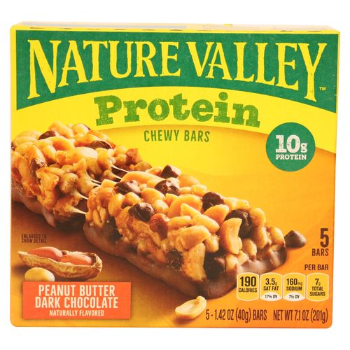 Barra Nature Valley Masticable Chocolate Oscuro Con Mantequilla Mani - 201gr