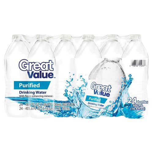 24 Pack Agua Great Value Purificada - 500ml