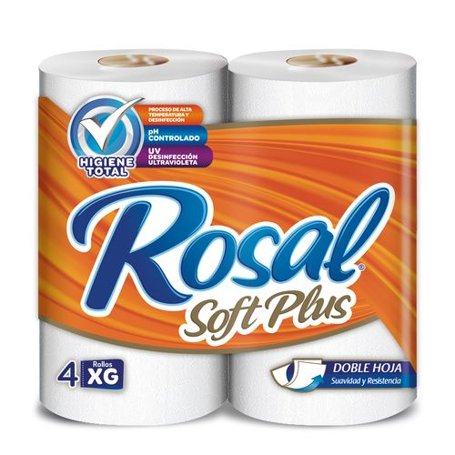 Papel Higienico Rosal Naranja 2 Ply 348 Hojas - 4 rollos