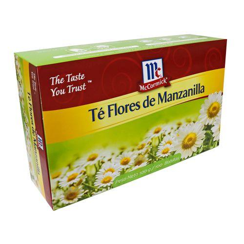 Té Flor Manzanilla Mccormick 100 Sobres - 100Gr