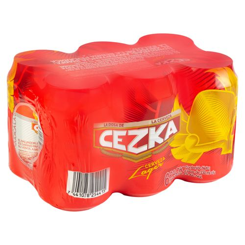 6 Pack Cerveza Cezka Lager 4.0 Alcohol - 330ml