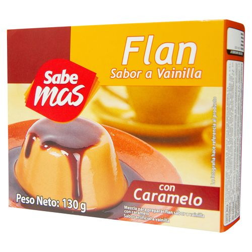 Flan Sabemas Vainilla Con Caramelo - 130gr